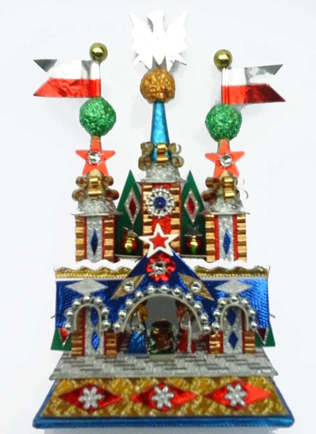 Krakow Nativity with stars and Swarovski crystals