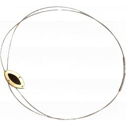 Genuine amber leaf necklace on a sterling silver string