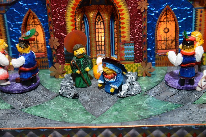 Detail from szopka entry to 2017 cKrakow Nativity competition