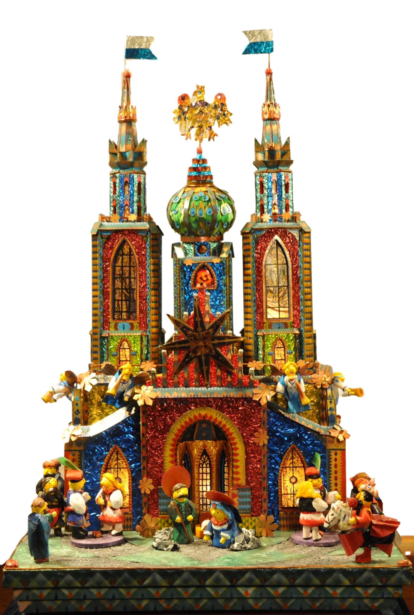 Wyspianski Krakow Nativity from the 75th Krakow szopka competition