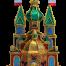 Golden flower Krakow Nativity by competition winner Marzena