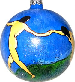 Matisse The Dance hand blown glass ornament