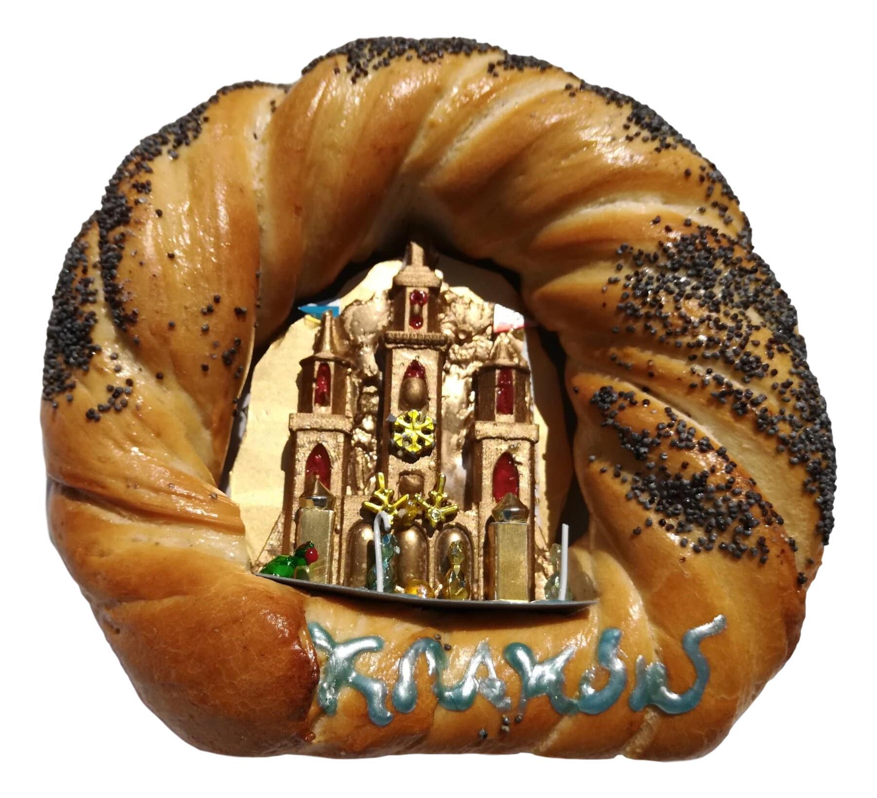Krakow Nativity in a Bagel by competition winner Darek