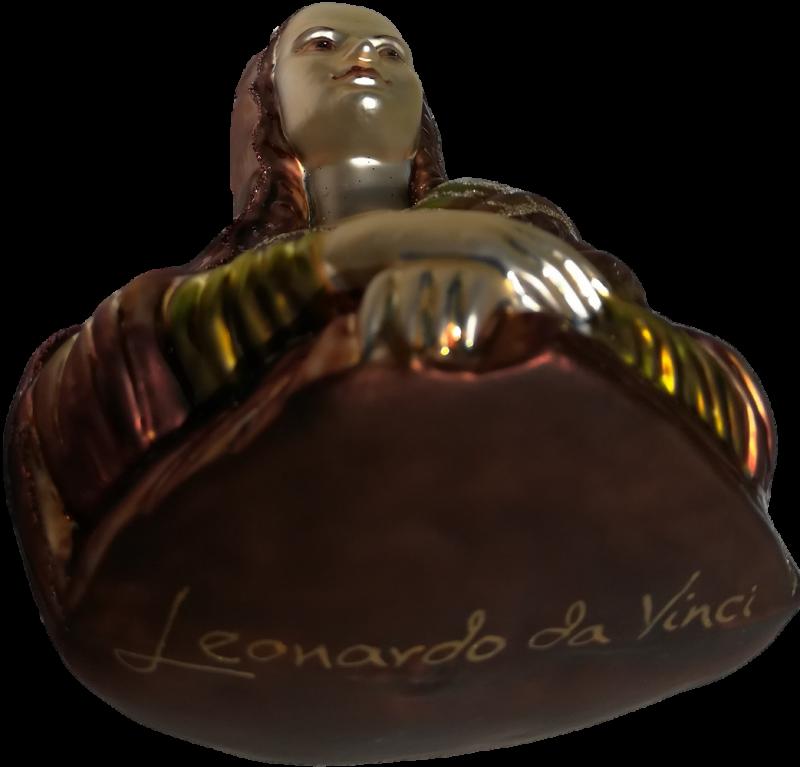 The Mona Lisa glass Christmas ornament