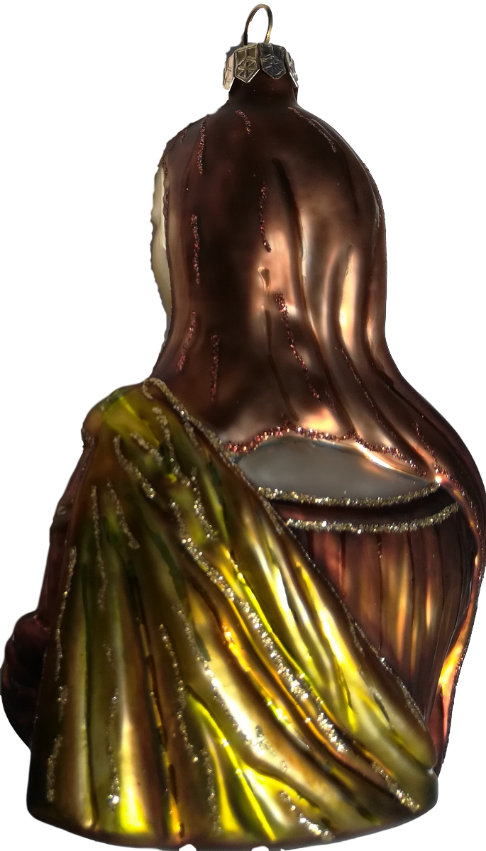 Mona Lisa glass Christmas ornament
