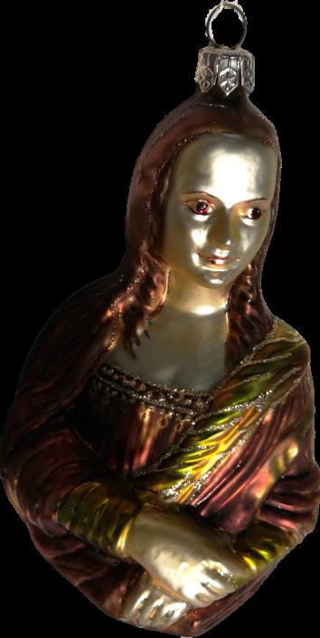 The Mona Lisa glass ornament