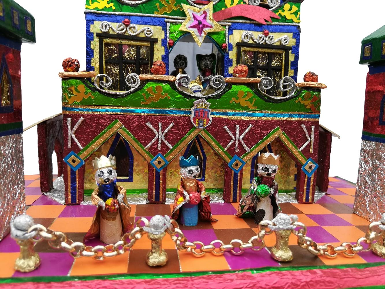 One of a kind Krakow Nativity with three kings and Krakow name and flag front detail